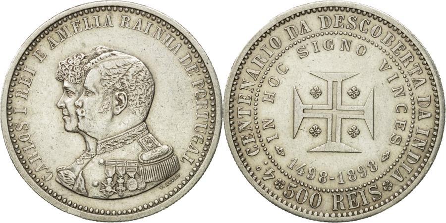 World Coins - Coin, Portugal, Carlos I, 500 Reis, 1898, , Silver, KM:538