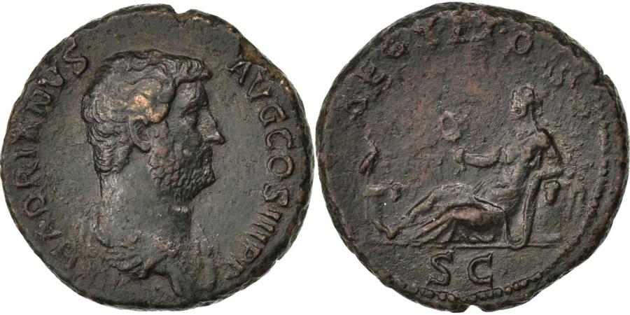 Ancient Coins - Hadrian, As, Roma, , Bronze, RIC #839, 12.87