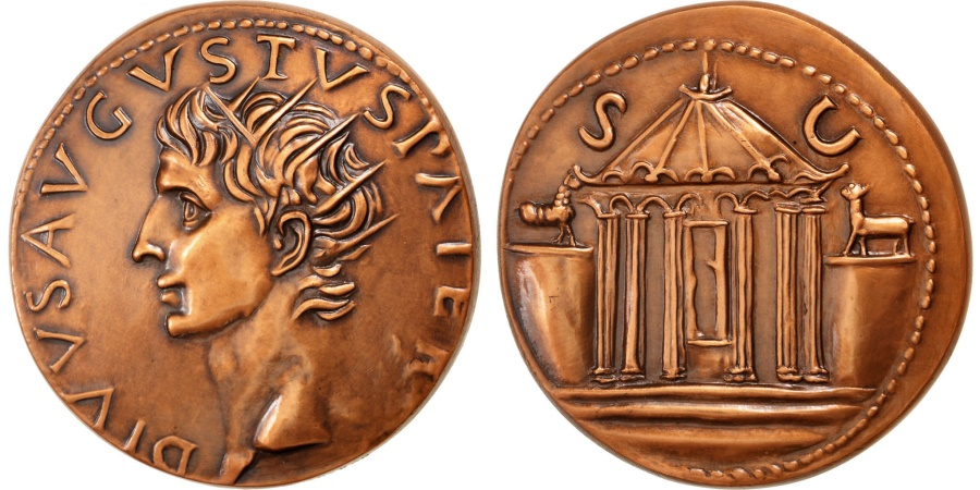 World Coins - FRANCE, History, French Fifth Republic, Medal, , Copper, 70, 180.00