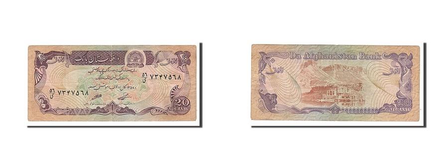 World Coins - Afghanistan, 20 Afghanis, 1979, KM #56a, EF(40-45)