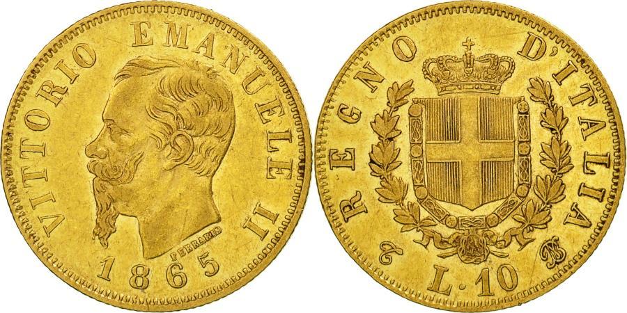 Italy vittorio emanuele ii 10 lire 1865 torino ef 40 for Coin torino