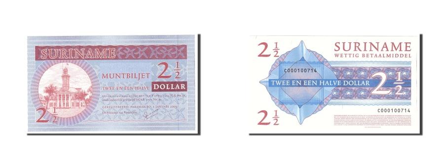 World Coins - Suriname, 2 1/2 Dollars, 2004, KM:156, 2004-01-01, UNC(65-70)