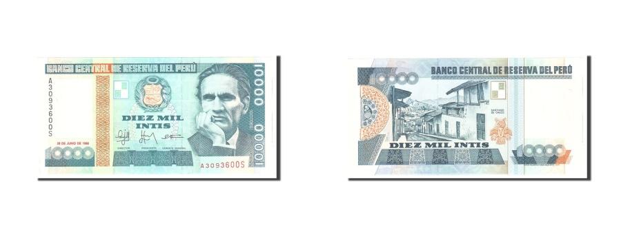 World Coins - Peru, 10,000 Intis, 1988, KM:141, 1988-06-28, UNC(65-70)