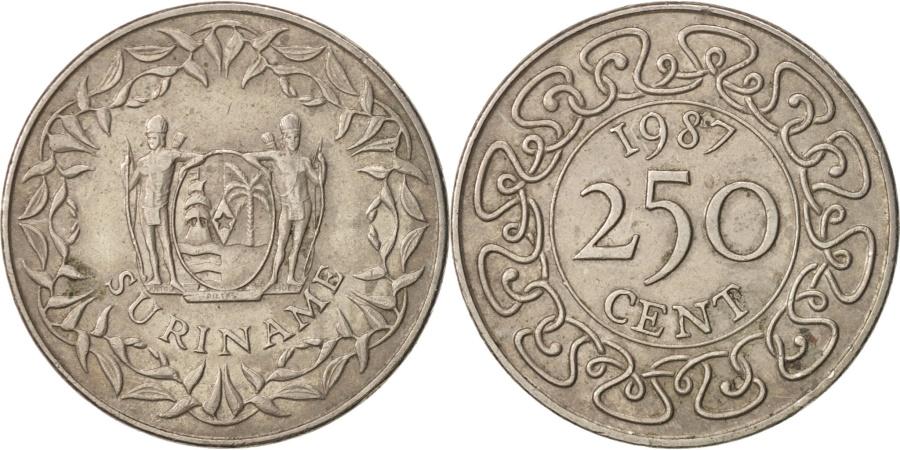 World Coins - Surinam, 250 Cents, 1987, , Copper-nickel, KM:24