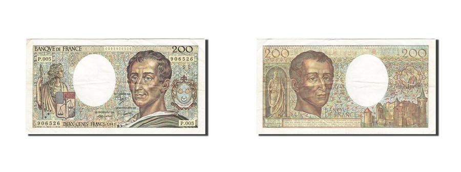 World Coins - France, 200 Francs, 1981, KM:155a, 1981, VF(30-35)