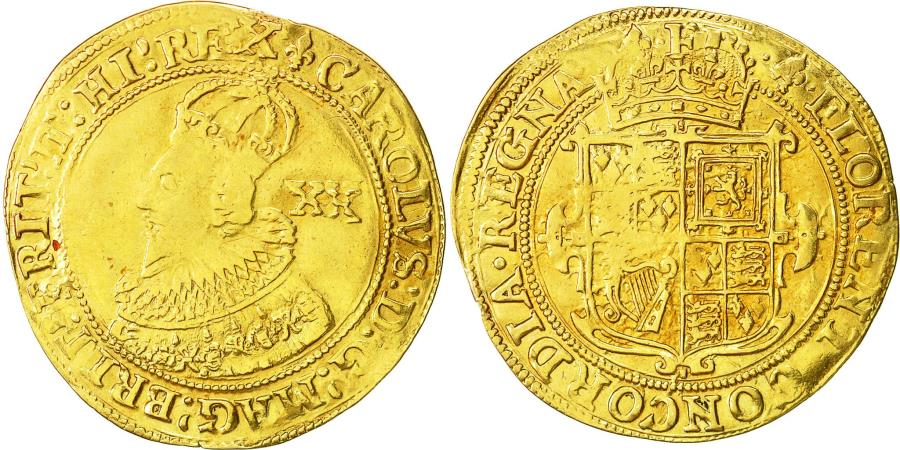 World Coins - Coin, Great Britain, Charles I, Unite, Tower, , Gold, KM:150