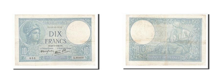 World Coins - France, 10 Francs, 10 F 1916-1942 ''Minerve'', 1940, KM #84, 1940-11-28,...