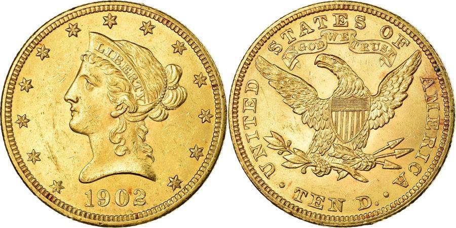 US Coins - Coin, United States, Coronet Head, $10, Eagle, 1902, Philadelphia,