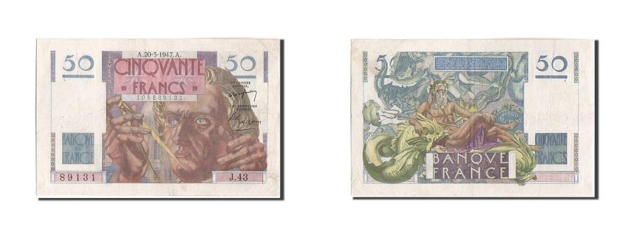 World Coins - France, 50 Francs, 50 F 1946-1951 ''Le Verrier'', 1947, KM:127b, 1947-03-20,...