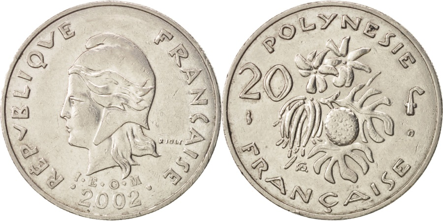 World Coins - French Polynesia, 20 Francs, 2002, Paris, , Nickel, KM:9