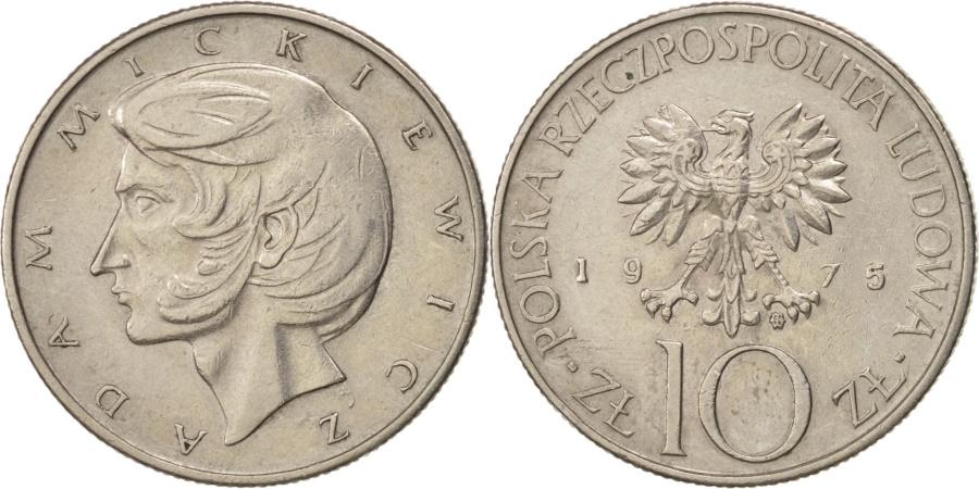 World Coins - Poland, 10 Zlotych, 1975, Warsaw, , Copper-nickel, KM:74