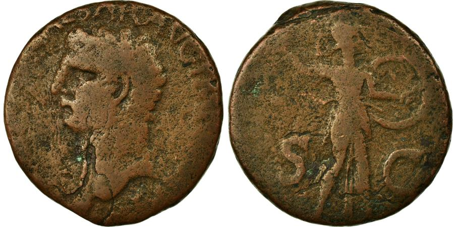Ancient Coins - Coin, Claudius, As, 42, Rome, Gallic imitation, , Copper, RIC:100