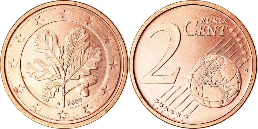 World Coins - GERMANY - FEDERAL REPUBLIC, 2 Euro Cent, 2006, , Copper Plated Steel