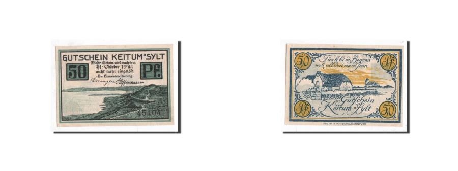 World Coins - Germany, Keitum, 50 Pfennig, paysage, Undated, UNC(65-70), Mehl:685.3