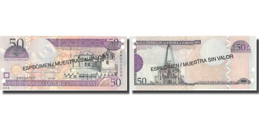 World Coins - Banknote, Dominican Republic, 50 Pesos Oro, 2003, 2003, Specimen, KM:170s3