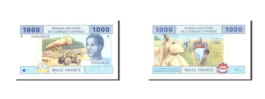 World Coins - Central African States, Equatorial Guinea,1000 Francs, 2002, KM:507F, UNC(65-70)
