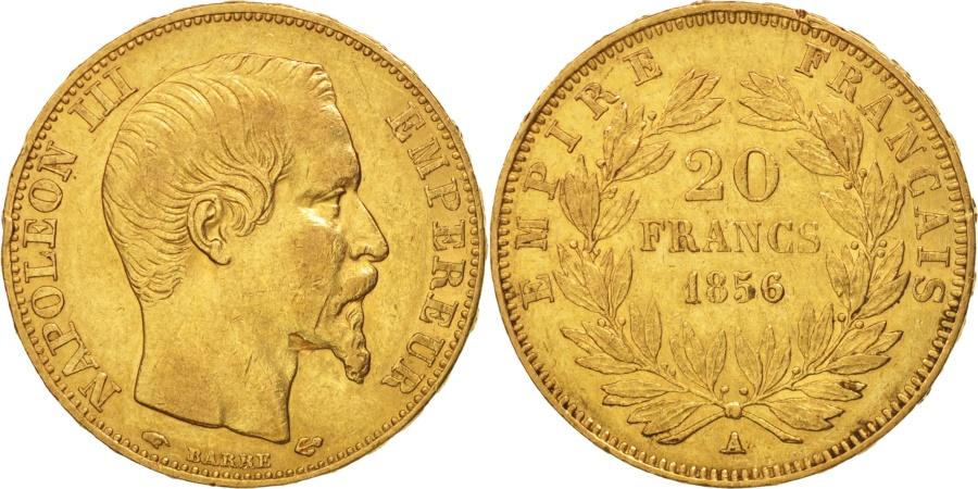 World Coins - France, 20 Francs, 1856, Paris, ,KM:781.1, Gadoury:1061