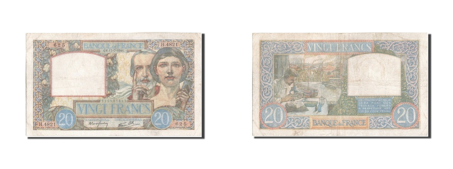 World Coins - France, 20 Francs, 20 F 1939-1942 ''Science et Travail'', 1941, KM:92b, 1941-...