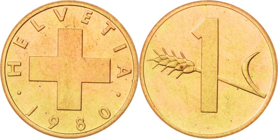 World Coins - Switzerland, Rappen, 1980, Bern, , Bronze, KM:46