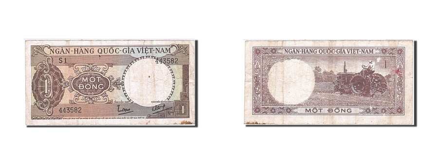 World Coins - South Viet Nam, 1 Dong, 1964-1966, Undated, KM:15a, VF(20-25)