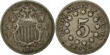 Us Coins - United States, Shield Nickel, 5 Cents, 1867, U.S. Mint, Philadelphia, AU(50-53)