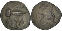Ancient Coins - Aulerci Cenomani, Obol, AU(50-53), Silver, Delestrée:2365var