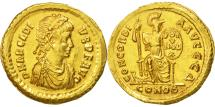 Arcadius, Solidus, Constantinople, AU(55-58), Gold, RIC:70c