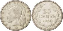 World Coins - Liberia, 25 Cents, 1960, AU(50-53), Silver, KM:16