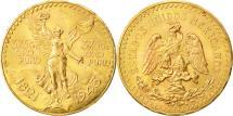World Coins - Mexico, 50 Pesos, 1943, Mexico City, MS(60-62), Gold, KM:482