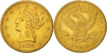 Us Coins - United States, Coronet Head, $10, 1904, New Orleans, AU(55-58), Gold, KM:102