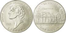 Us Coins - United States, Dollar, Thomas Jefferson, 1993, MS(65-70), Silver, KM:249