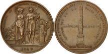 World Coins - France, Medal, History, Luxor Obelisk, 1849, Montagny, AU(55-58), Bronze