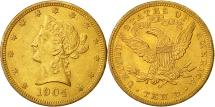 Us Coins - United States, Coronet Head, $10, 1904, New Orleans, AU(50-53), Gold, KM:102