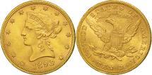 Us Coins - United States, Coronet Head, $10, Eagle, 1893, Philadelphia, AU(50-53), KM 102