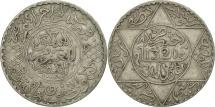Morocco, 'Abd al-Aziz, 1/2 Rial, 5 Dirhams, 1902, London, EF(40-45), Silver