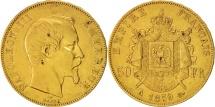 World Coins - France, Napoleon III, 50 Francs, 1859, Paris, EF(40-45), Gold, KM 785.1