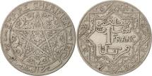 World Coins - Morocco, Yusuf, Franc, 1921, bi-Bariz, Paris, EF(40-45), Nickel, KM:36.1
