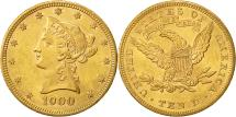Us Coins - United States, Coronet Head, $10, 1900, Philadelphia, AU(55-58), Gold, KM:102
