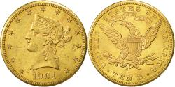 Us Coins - Coin, United States, Coronet Head,$10,Eagle,1901,San Francisco,EF(40-45),KM 102