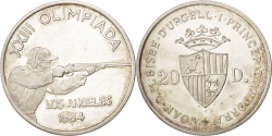 World Coins - Andorra, 20 Diners, 1984, , Silver, KM:25