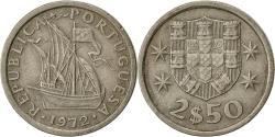 World Coins - Coin, Portugal, 2-1/2 Escudos, 1972, , Copper-nickel, KM:590