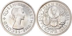 World Coins - Coin, Southern Rhodesia, Elizabeth II, Crown, 1953, British Royal Mint