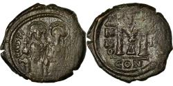 Ancient Coins - Coin, Justin II, Follis, 566-567, Constantinople, , Copper, Sear:360