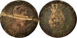 World Coins - Coin, Portugal, Jo, 40 Reis, Pataco, 1813, Lisbon, , Bronze, KM:345.1
