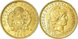 World Coins - Coin, Argentina, 5 Pesos, Argentino, 1885, , Gold, KM:31