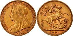 World Coins - Coin, Australia, Victoria, Sovereign, 1897, Melbourne, , Gold, KM:13
