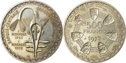 World Coins - Coin, West African States, 500 Francs, 1972, Paris, , Silver, KM:7