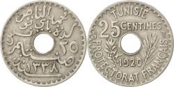 World Coins - TUNISIA, 25 Centimes, 1920, Paris, KM #244, , Nickel-Bronze, Lecompte..