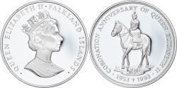World Coins - Coin, Falkland Islands, Elizabeth II, 50 Pence, 1993, , Silver, KM:43a