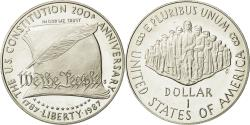 Us Coins - Coin, United States, Dollar, 1987, U.S. Mint, San Francisco, MS(65-70), Silver